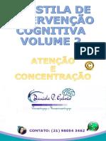 APOSTILA DE INTERVENÇÃO COGNITIVA VOLUME 2 ATENÇÃO E CONCENTRAÇÃO DANIELE GALVÃO