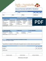 Formato Solicitud de Soporte Técnico