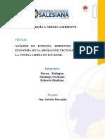 Análisis de energía, emisiones de CO2 y economía para la migración a inducción en Ecuador_Paper #2