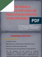 ENFOQUES CUANTITATIVOS DE INV EN PSP