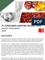 TBLA IJ - Investor Presentation FY2018