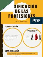 Clasificación de Las Profesiones