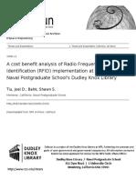 Rf Id Costs Benefits