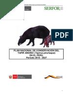 Plan de Conservacion Del Tapir