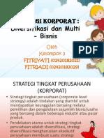 PPT Klp 3 - STRATEGI KORPORAT Diversifikasi Dan Multi - Bisnis