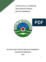 Pedoman Penggunaan Antibiotik RSDS