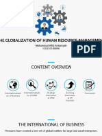 The Globalization of Human Resource Management