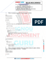 Bca Solved Assignment Bcsl 021 c Language Programming Lab