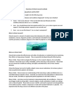 Overview of Clinical Research Methods