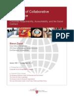 Harvard the Logic of Collaborative Governance Simon-Zadek 2006