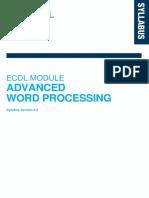 Ecdl Advanced Word Processing Syllabus 3.0