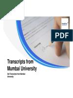 Transcripts From Mumbai University