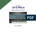 Op-x Pro-II 1.2 Manual