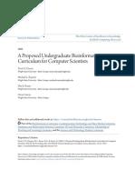 A Proposed Undergraduate Bioinformatics Curriculum for Computer S
