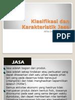 Klasifikasi Dan Karakteristik Jasa P3