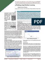 Detecting Phishing using Machine Learning