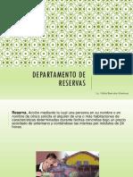 3 Departamento de Reservas