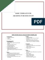 Architecture Site Study Template