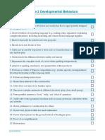 Checklist of Grade2 Developmental Behaviors