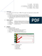 Lesson Plan Excel Adding Subtracting