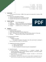 Lesson Plan Part of Spreadsheet