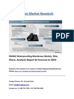 Global Waterproofing Membrane Market, Size, Share, Analysis Report & Forecast to 2022