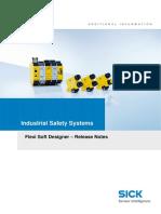 Special Information Release Notes Flexi Soft Designer en IM0038815