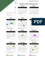 Calendario Laboral Guadalajara 2019