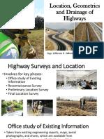 1.3 Highway Surveys Geometrics and Earthwork Computations