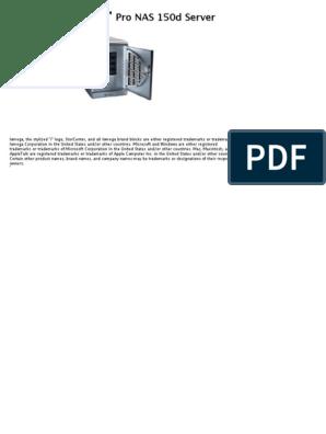 Iomega storcenter pro nas 150d | ip address | filename.