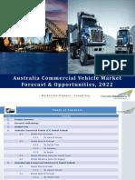 Australia Commercial Vehicle Market Forecast & Opportunities, 2022_Brochure