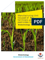 UK Manufacturing of Biofertilizers and Biopesticides