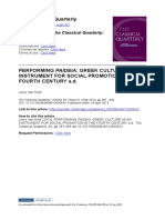 Performing Paideia - Greek Culture as an Instrument for Social Promotion in the Fourth Century a. D. (Classical Quarterly, 2013)