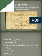 Bödő_Községtörténeti kutatás  források