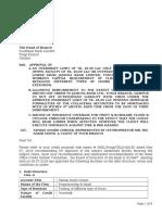 example credit arrangement letter