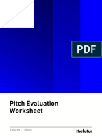 Pitch Evaluation Worksheet