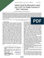 Utilization of Golden Snail as Alternative Liquid Organic Fertilizer Lof on Paddy Farmers in Dairi Indonesia