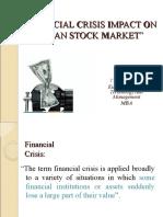 Financial Crisis Impact on Indian Stock Market