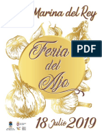 Programa feria del Ajo Santa Marina del Rey  2019