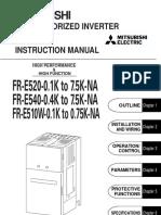 Mitsubishi e500 Manual