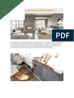Uso e Instalación de Porcelanato