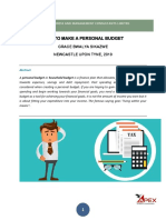 Personal or Household Budgeting.