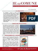 Notizie Dal Comune di Borgomanero del 5 Luglio 2019