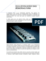 Conheça a Evolução Das Memórias Ram