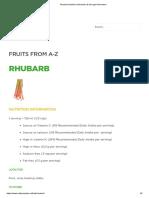 Rhubarb Nutrition Information & Storage Information