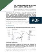 Introdução Dos Fatores de Forma Do Módulo de Memória DDR4