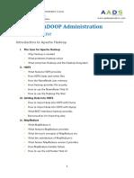 hadoop admin course