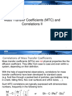 Lecture 7 Mass Transfer Coefficients II
