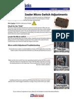 Impulse Hand Sealer Micro Switch Adjustments