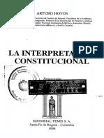 Hoyos 1998 La Interpretacion Constitucional